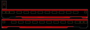 #96505 SAL Budd Fluted Side 48 Seat Coach-24 Seat Lounge-Observation